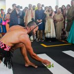 Haka pōwhiri for wedding guests
