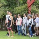 HAKA WORKSHOPS: International students being welcomed onto marae by Te Wehi Haka